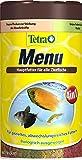 Tetra Menu 250 ml - Mezcla de alimento para todos los peces ornamentales, 4 copos diferentes en 4 compartimentos separados, ideal para peces de todas las zonas de agua