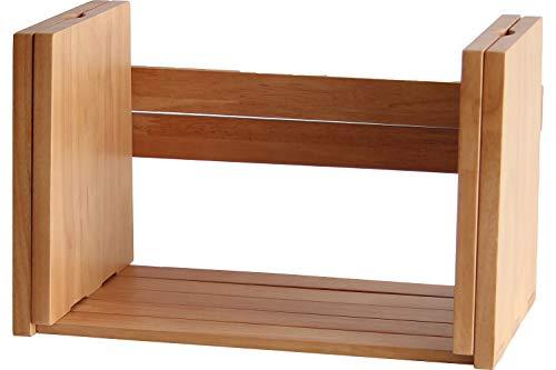 ブックスタンド 本立て ブックラック 完成品 コミックラック マンガ収納 雑誌立て 収納棚 シンプル 天然木 木製 おしゃれ (ライトブラウン)