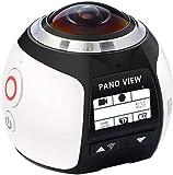 4K 30fps WIFI Cámara de acción 360° cámara panorámica 30M impermeable con lente ojo de pez de 220 grados para foto- disparo/deportes al aire libre/sondeo de aguas profundas, etc