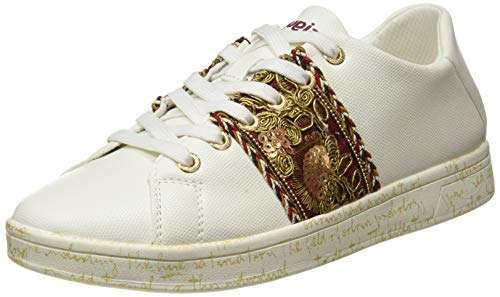 Desigual Shoes_Cosmic_Exotic Lett, Sneakers Woman. Mujer, Blanco, 39 EU