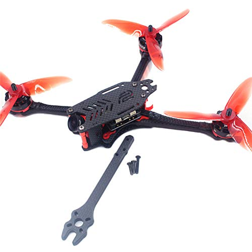 Accessories F2 Mito GS Carbon Fiber 195/220/250/275mm Freestyle Stretch X Frame Kit for RC FPV Racing Drone DIY Toys Accessories - (Color: 220mm(5inch))