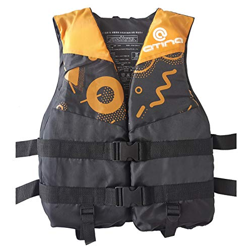 Q-YR Chaleco Salvavidas Chaleco Profesional Flotabilidad De Agua Chaleco Ajustable para Adultos Niños para Snorkeling, Pesca, Surf,A,M