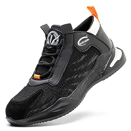 Zapatos de trabajo Entrenadores de seguridad para hombres Cap de punta de acero de la punta ligera de la moda de las zapatillas de deporte de las zapatillas de deporte de verano transpirables antidesl