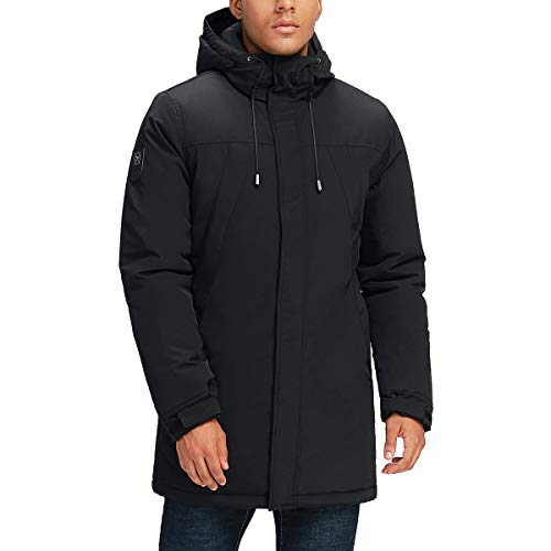 Tommy Hilfiger Men's Lightweight Water Resistant Packable Down Puffer Jacket (Standard and Big & Tall), Black, X-Large