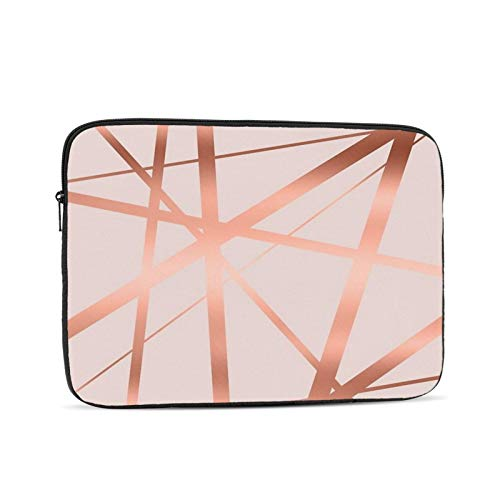 Pink And Copper Luxe 13 Inch Laptop Sleeve Bag Compatible with 13.3' Old MacBook Air (A1466 A1369) Notebook Computer Protective Case Cover
