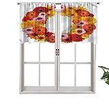 Hiiiman Cortinas opacas con bolsillo para barra O Colors of The Summer Set de 1, 127 x 45 cm para sala de estar, dormitorio o decoración del hogar