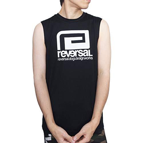[リバーサル] reversal Tシャツ ノースリーブ BIG MARK DRY SLEEVELESS タンクトップ ドライ 速乾 ブラック 格闘技 [RVBS031] 2XL BLACK