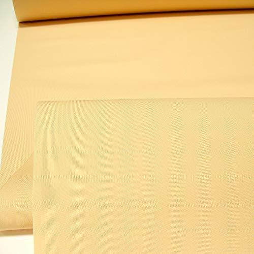 TOLKO Sonnenschutz Markisen-Stoffe als Meterware Zum Nähen mit UV-Schutz 50+   Wasserdicht, Extra Langlebig - Ohne Ausbleichen (Soft Apricot-Bicolor)
