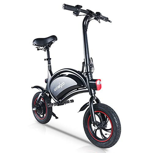 Electric Bike,Fold Electric Bike, Windgoo Electric Bike 12'' with powerful Motor, 36V Rechargeable Lithium Battery,Fast Electric Scooter for Adults and Kids-Black