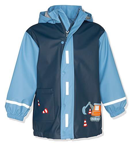Playshoes Jungen Regenjacke Regenmantel Baustelle, Blau (Bleu 17), 92