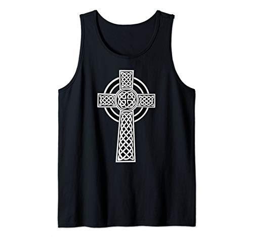 Celtic Cross Irish Christian Catholic Crucifix Tank Top