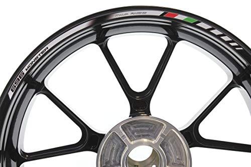 IMPRESSIATA Bandas Adhesivas SpecialGP Moto Ducati Monster 696 Blanco