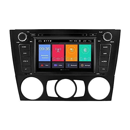 W-bgzsj para BMW E81 E82 E87 E88 1 Serie Double DIN en Dash Car Stereo GPS NAVEGE Tead Unidad 9'Pantalla táctil Multimedia Player Receptor Radio WiFi OBD2 Espejo Enlace