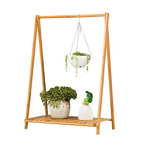 MLHJ NNIU- Stand de Fleur Stand de Fleur en Bois Bamboo Flower Stand Multi-Couche Pliable Salon Balcon intérieur (Taille : 92 * 70 * 40cm)