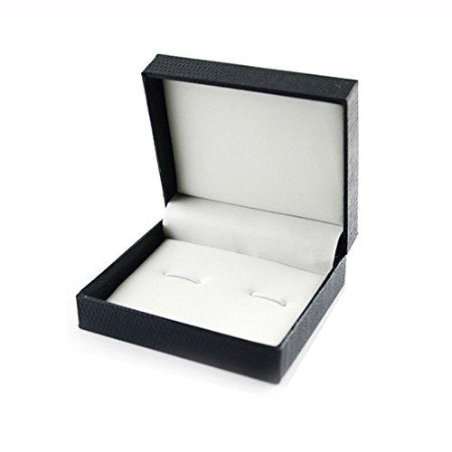 ryadia (TM) superbe boîte cadeau cadeau boutons de manchette Boutons de manchette – Accessoires Boîte de transport Noir doosjes Sac Emballage Cadeau vente