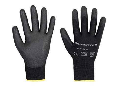 Honeywell 2100450–09/SPS Handschuh, PU, Nylon, Größe: 9, Schwarz