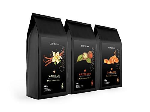 Ground Kaffee Gemischtes Gemisch - Vanille, Karamell & Haselnuss (250 g pro Beutel)
