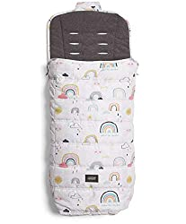 Footmuff - Our all seasons footmuff is perfect for all year round and is water and dirt resistant so its super easy to keep clean. Universal - This footmuff is designed to fit most pushchairs and the new shape means it will fit your pushchair even be...