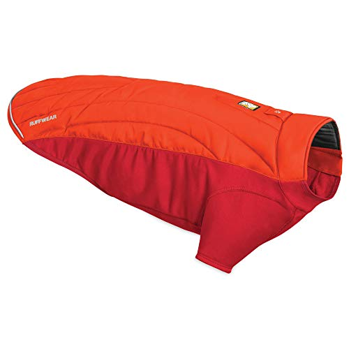 RUFFWEAR, Powder Hound Insulated, Water Resistant Cold Weather Jacket for Dogs, Sockeye Red, Medium
