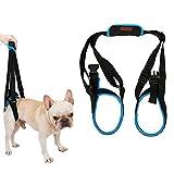 Tineer Dog Lift Arnés para piernas traseras Soporte para Mascotas Arnés Cabestrillo Trasero Ayuda Piernas débiles Levántate Soporte Arnés de Equilibrio para Artritis Rehabilitación Perros (XL)