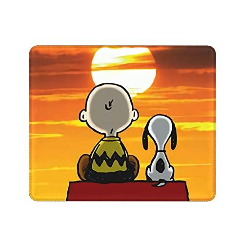 ZVEZVI Snoopy Love Alfombrilla para ratón Portátil Material de Oficina Alfombrilla Antideslizante Color Patrón de Dibujos Animados 9.8x11.8 Pulgadas