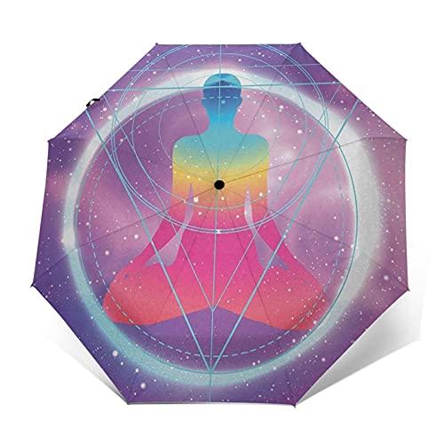 Paraguas Plegable Automático Impermeable Indie 758, Paraguas De Viaje Compacto A Prueba De Viento, Folding Umbrella, Dosel Reforzado, Mango Ergonómico