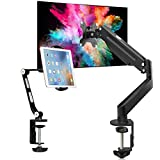 Suptek Tablet Stand YF208B and Gas Spring Monitor Mount MD8