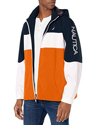 Nautica Herren Poly Colorblock Jacke, Rustikaler Sonnenuntergang, L
