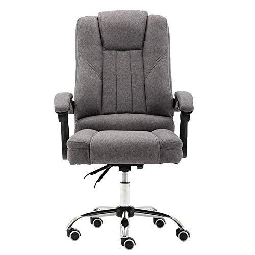 XKKD Recline Extra gevoerde bureaustoel met hoge rugleuning, grote zit- en kantelfunctie, ultiem comfortdesign, ademend katoen, draaggewicht 150 kg