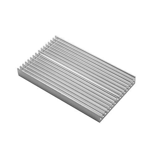 ZXC 100 * 60 * 10mm DIY Cooler Aluminum Heatsink Shape Radiator Grille Chip Fit For IC LED Power Transistor Sparkmaker SLA 3d Printer Parts (Size : White color)