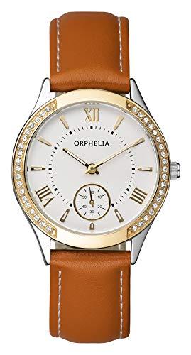 Orphelia Damen-Armbanduhr MasterGlam Analog Quarz Leder