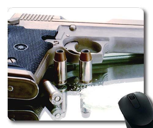 Bequemes Mauspad, Gun Gale Onliner, Pistole, Mauspad mit genähten Kanten