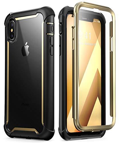 i-Blason Funda para iPhone X [Ares] Transparente Case 360 Grados Carcasa con Protector de Pantalla para Apple iPhone X iPhone XS