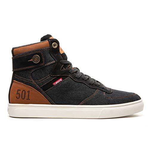 Levi's Shoes Jeffrey Hi 501 Denim UL NB Black/Tan 11
