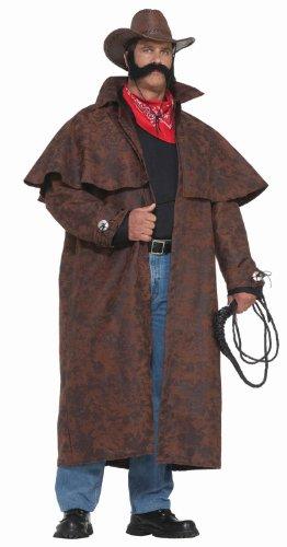 Forum Novelties Herren Übergröße Extra Big Fun Tex Kostüm Duster Mantel - Braun - XXX-Large