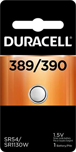 Duracell - 389/390 Silver Oxide Button Battery - long lasting battery - 1 count