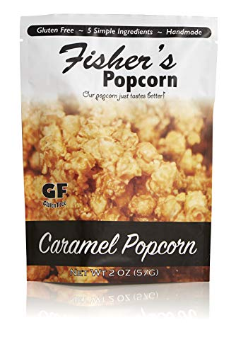 Best Review Of Fisher's Popcorn Caramel Popcorn, Gluten Free, 5 Simple Ingredients, Handmade, No Pre...