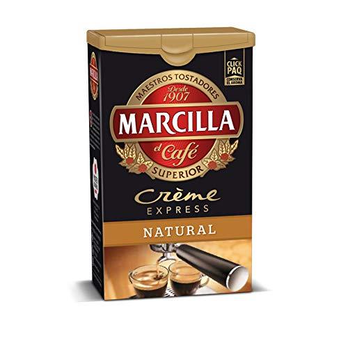 Marcilla Café Molido Crème Express, Natural - 4 Paquetes de 250 gr - Total: 1000 gr