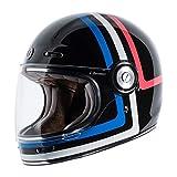 Casco integral TORC T-1 Retro Americana Tron Vintage Negro Brillante Gloss Black Homologado ECE DOT Biker Moto Talla L