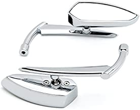 Krator Custom Rear View Mirrors Chrome Pair w/Adapters For Kawasaki ZZR 600 1200 ZZR600 ZZR1200