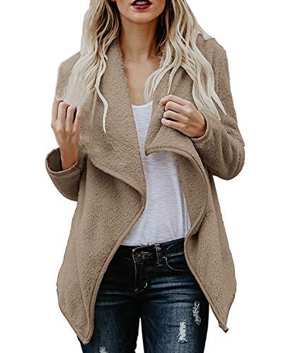 ACHIOOWA Blazer - Chaqueta corta y casual de manga larga para mujer A05183marrón M