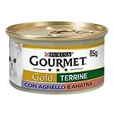 Purina Gourmet Gold Húmedo Gato Paté con Cordero y Pato, 24 latas de 85 g Cada una de Las 24 x 85 g