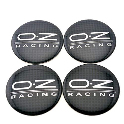 okokk90909o 4 adhesivos de aleación de carbono de 56 mm O.Z OZ Racing Wheels Center Hub Cap Emblema insignia insignia de aleación 4 × Black OZ Racing 56 mm Buje central Emblema de fibra de carbono