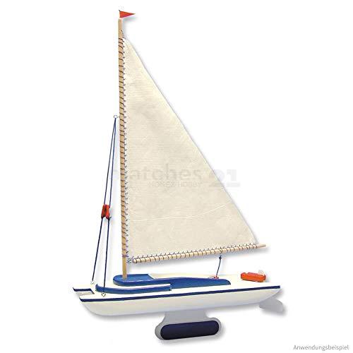 matches21 Segelboot Katamaran Segel Boot als Holz Bausatz f. Kinder Werkset Bastelset ab 13 Jahren