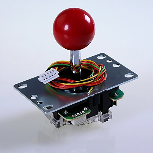 Sanwa JLF-TP-8YT-SK OEM Red Ball Top Handle Arcade Joystick 4 & 8 Way Adjustable (Mad Catz SF4 Tournament Joystick Compatible) by Sanwa