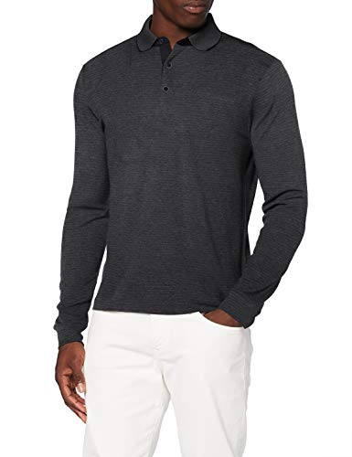 Pierre Cardin Herren Longsleeve Interlock Stripes Polo-Pullover, Marine, S