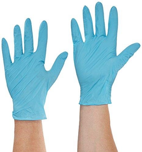 Semperguard 816780639/3000001630 Xpert Einmalschutzhandschuh aus Nitrillatex, puderfrei, Chemikalienspritzschutz, Größe XL (9-10), Grün/Blau (90 er-Pack)
