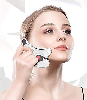کفگیر لوازم آرایشی و بهداشتی MAGICON ابزار لرزش گیر الکترونیکی ترموستاتیک صورت gua sha kerokan ، ماساژور برق برقی ثابت 45 دقیقه ، لیفت صورت و ماساژور چشم زیبایی ابزار مراقبت از صورت (سفید)