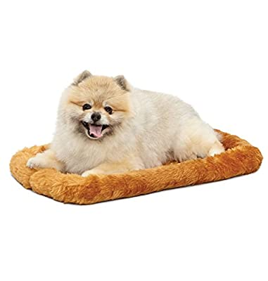 22L-Inch Cinnamon Dog Bed or Cat Bed w/ Comfortable Bolster | Ideal for XS Dog Breeds & Fits a 22-Inch Dog Crate | Easy Maintenance Machine Wash & Dry | 1-Year Warranty