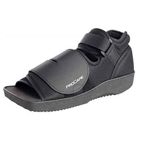 DJO 79-81233 PROCARE Squared Toe Post Op Shoe, Small, Female Size 6.5-8, Male Size 5.5-7